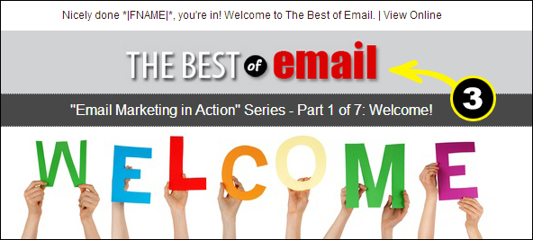 Welcome Email company branding example