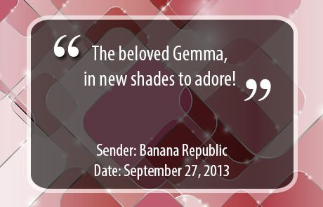 Banana Republic Subject Line - The beloved Gemma
