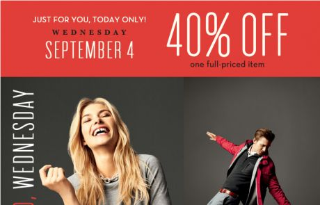 Banana Republic - 40% off for you and only you