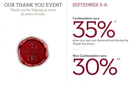 Banana Republic - 35 great years, you deserve a gift - Standout Sale Email