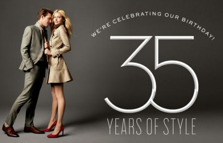 Banana Republic Standout Email - It's a thrill to be 35