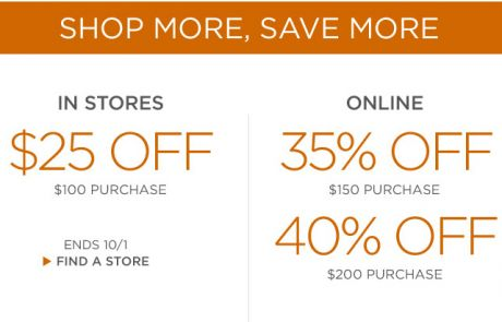 Banana Republic - The more you shop, the more you save - Sale Email