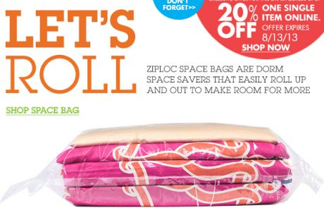 Bed Bath & Beyond Newsletter with Animated Gift - Wanna roll with us?