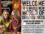 Bonefish Grill Welcome Email