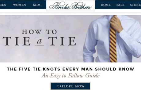Brooks Brothers Standout Email - How to Tie a Tie