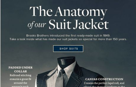 Brooks Brothers Standout Email - A Look Inside Our Suit Jacket