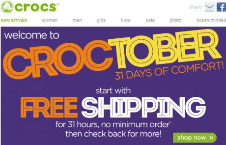 Crocs Standout Email - Happy Croctober