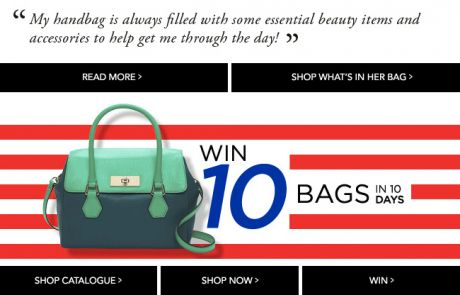 David Jones Newsletter featuring Animated GIF - Win 10 bags in 10 days