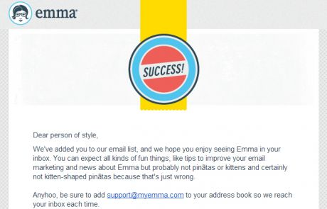 Emma Welcome Email