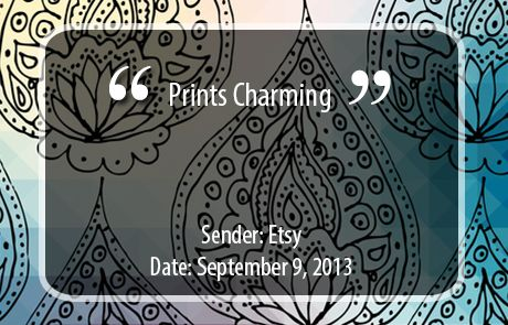 Etsy Subject Line - Prints Charming