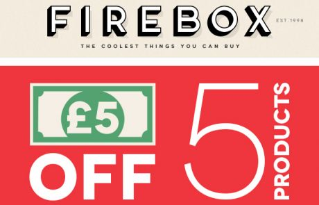 Firebox - A Fiver off Five Products - Sale Email