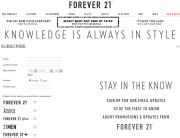 Forever 21 (Newsletter Signup Inspiration)