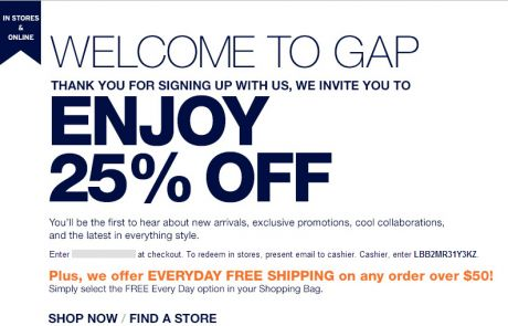 GAP Welcome Email