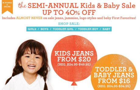 Gap Kids - ALMOST NEVER on sale favorites ARE ON SALE! - Sale Email