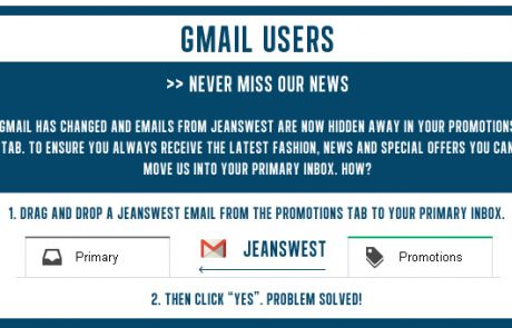 Jeanswest Gmail Campaign