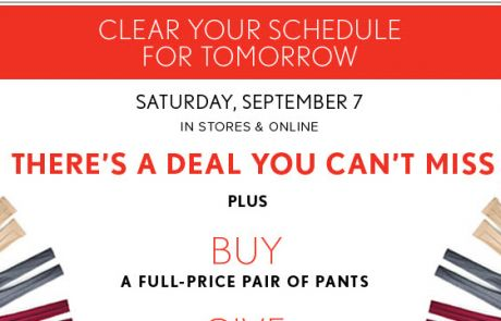 LOFT - Clear your schedule tomorrow - Sale Email
