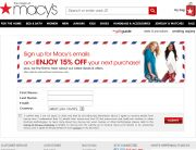 Macy's (Newsletter Signup Inspiration)