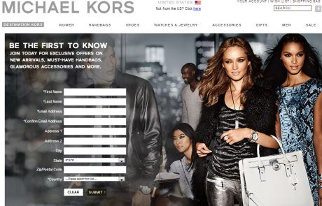 Michael Kors (Newsletter Signup Inspiration)