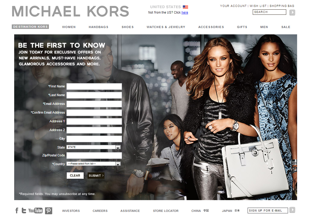 Email format and list of 55 email addresses of people working at Michael Kors. Contact and general information about the website sfathiquah.ml Sign in to uncover the email addresses for free.