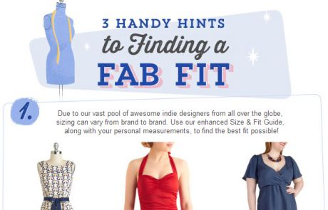 ModCloth Standout Email - tidbits on sizing and fit
