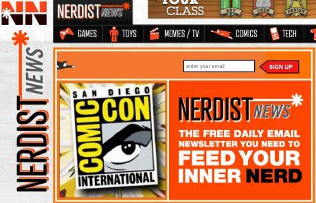 Nerdist News (Newsletter Signup Inspiration)