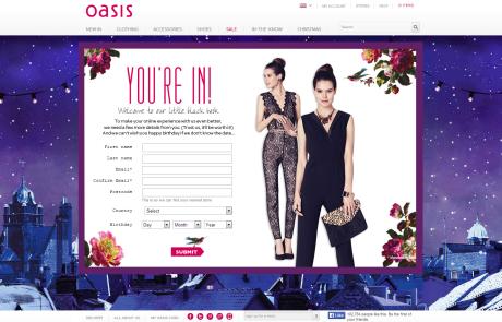 Oasis (Newsletter Signup Inspiration)