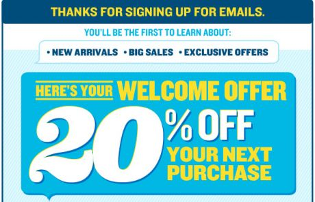 Old Navy Welcome Email