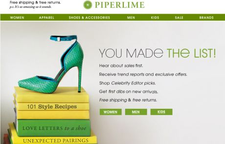 Piperlime Welcome Email - July 2013