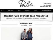 Rue La La Gmail Campaign