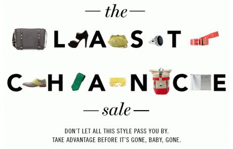 Rue La La - Not to be dramatic, but this is your last chance - Sale Email
