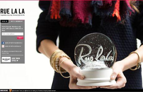 Rue La La Newsletter Signup Page December 2013