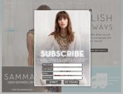 Sambag (Newsletter Signup Pop-up Example) - December 2013