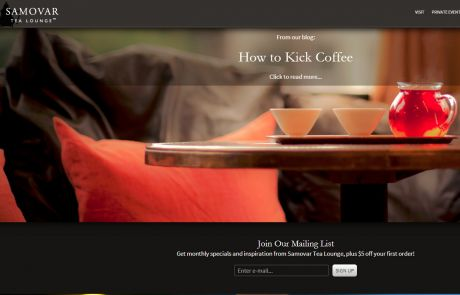 Samovar Tea Lounge (Newsletter Signup Inspiration)