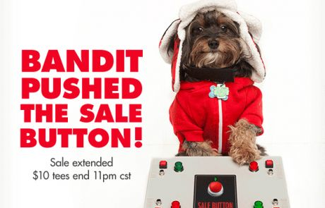 Threadless Sale Email - The dog did it