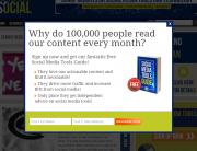 Razor Social newsletter signup pop-up