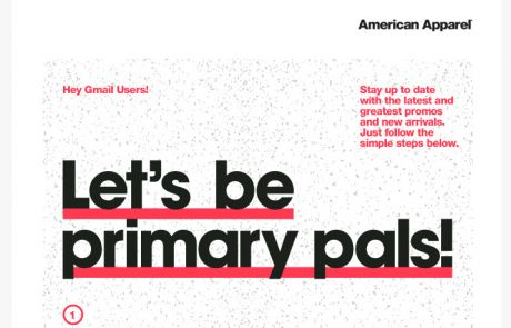 """American Apparel Gmail """"Move Me"""" Campaign - September 2013"""