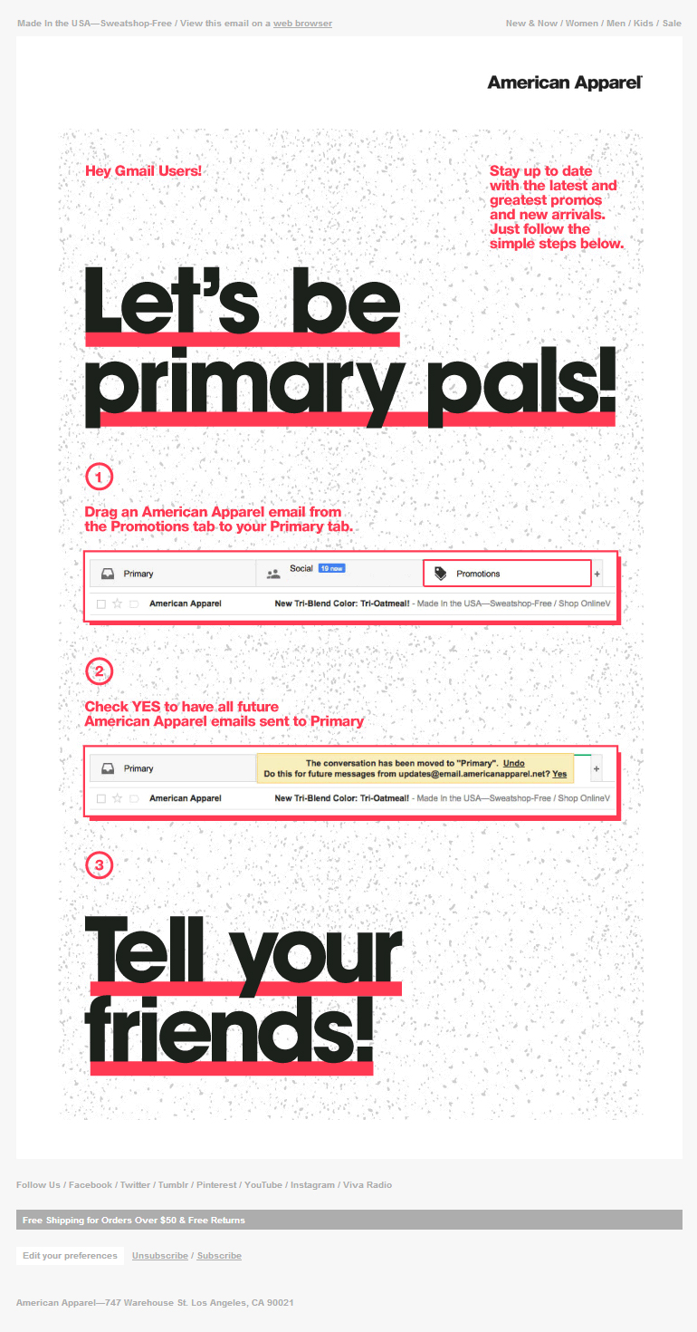 American Apparel Archives - The Best of Email