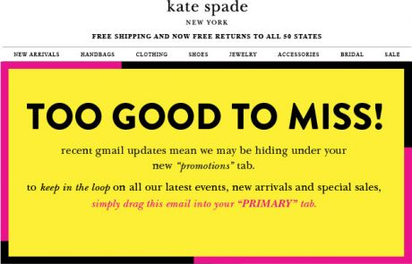 "Kate Spade Gmail ""Move Me"" Campaign - August 2013"