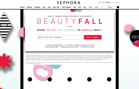 Sephora (Newsletter Signup Promotion Example) - October 2013