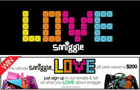 Smiggle (Newsletter Signup Promotion Example)