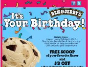 Ben & Jerry's: Sweet! Free Ice Cream (Birthday Email)