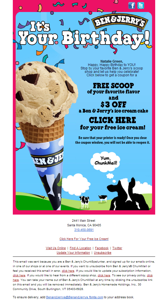 Ben & Jerry's Newsletter Archives - The Best of Email