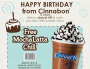 Cinnabon Birthday Email