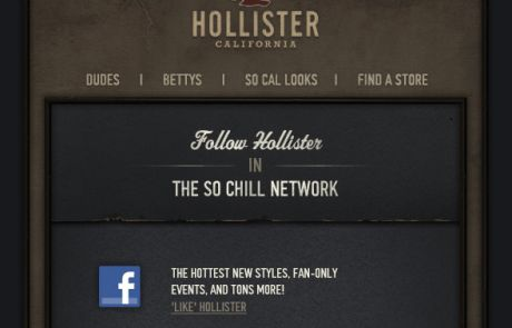 Hollister Social Engagement Email