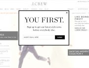 J.Crew (Newsletter Signup Pop-up Example)