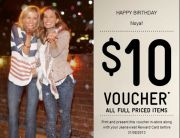 Jeanswest Birthday Email