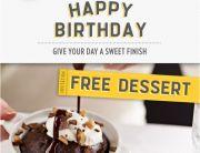 Macaroni Grill Birthday Email