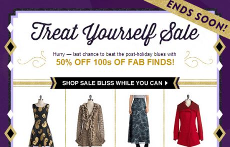 ModCloth: Parting is such sweet sorrow (Standout Sale Email)