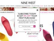 Nine West (Newsletter Signup Promotion Example) - February 2014