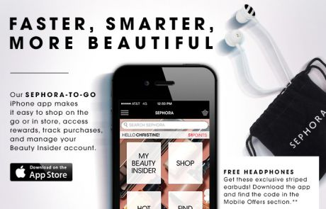 Sephora: 3 reasons to download our new app (Social Engagement Email)
